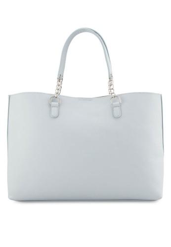 ZALORA Chain Handles Roomy Shopper Bag