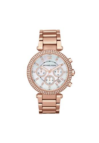 Paresprit 鞋ker鑽飾計時腕錶 MK5491, 錶類, 時尚型