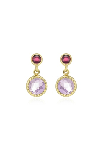 Jemocracy purple and gold JEMOCRACY - Flawless mini studs in gold-plated silver with natural gems 99940ACCA49C1BGS_1