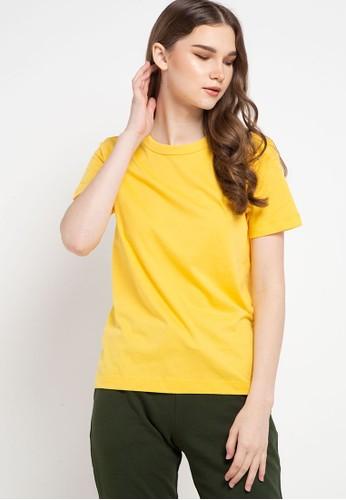 Giordano yellow Women's Smart Tee 27A44AA90DA168GS_1