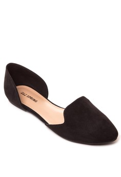 Loane Peep Toe Flats