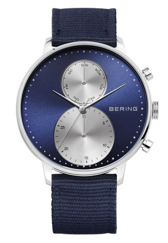 Bering silver Classic 13242-507 Blue 42 mm Men's Watch 904A7ACE27C871GS_1