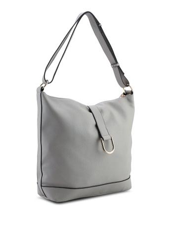 62e0e6aedbf9 Buy Dorothy Perkins Grey Metal D-Ring Hobo Bag