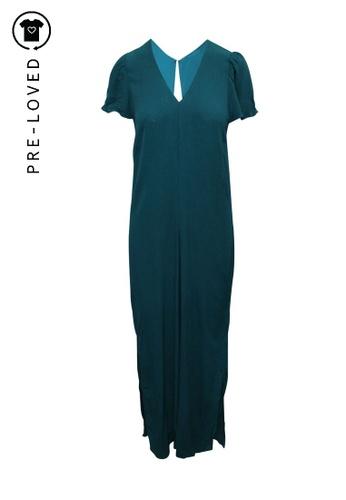 Reformation green Pre-Loved reformation Dark Turquoise Oversized Jumpsuit AF335AAC1EBB46GS_1