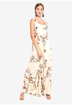INDIKAH Shoulder Tie Floral Jumpsuit S  99.00. Sizes 6 10 7cb4228d3