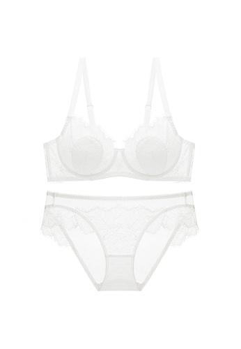 Glorify 白色 Premium White Lace Lingerie Set 01064USEA411D0GS_1