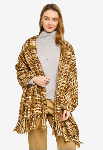niko and ... brown Check Woven Stole 8CF08AC4B97204GS_1