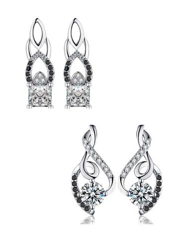 A-Excellence white Premium Elegant White Silver Earring Set 91FA7ACBF97C40GS_1