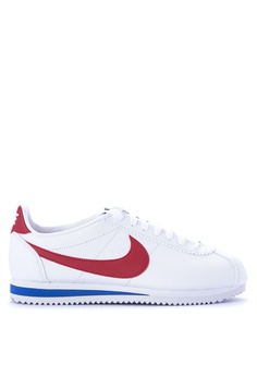 best cheap 92cef 4e92f Nike white Nike Classic Cortez Leather Shoes 69429SHC2595B0GS1