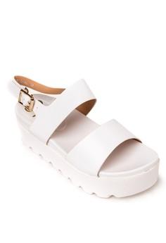 Crystal Wedge Sandals