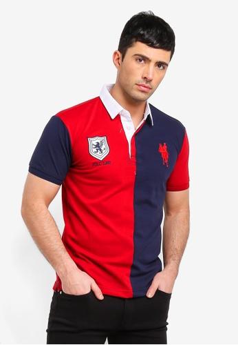Fidelio 紅色 撞色刺繡POLO衫 45749AADE77A57GS_1