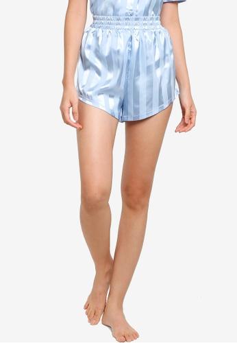 ZALORA BASICS blue Lounge Stripe Shorts 86C75AAB762D40GS_1