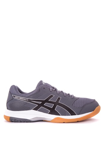 Asics grey GEL-Rocket 8 Volleyball Shoes AS445SH0JGSJPH_1