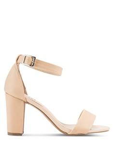 【ZALORA】 Chloe 針扣繞踝帶粗跟鞋