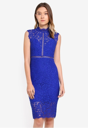 Bardot blue Panel Lace Dress BA332AA0ST8FMY_1