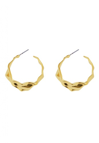 SKEDA gold Alex Gold Earrings B464CAC46BC5D1GS_1