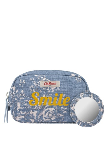 Cath Kidston blue Ashbourne Bunch Smile Make Up Case 0BCBCACBC223DAGS_1