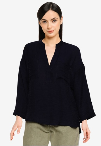 ONLY navy Franky V-Neck Top D2223AA9078EE3GS_1