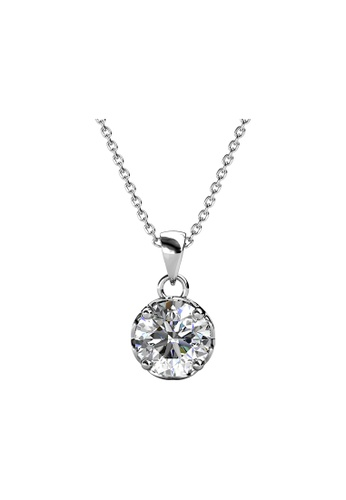 Her Jewellery silver CELÈSTA Moissanite Diamond - Le Fleur Pendant (925 Silver with 18K White Gold Plating) by Her Jewellery 56E3CAC7BE0108GS_1