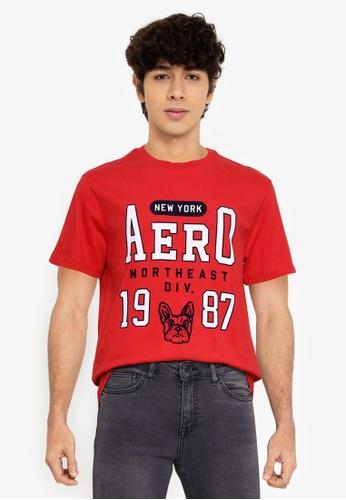 Aeropostale red Aero Bulldog Tee F563EAA956FA67GS_1