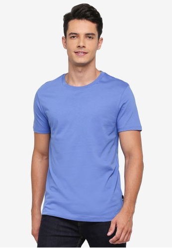 Burton Menswear London 藍色 Bermuda Blue Crew Neck T-Shirt BF601AAE509924GS_1