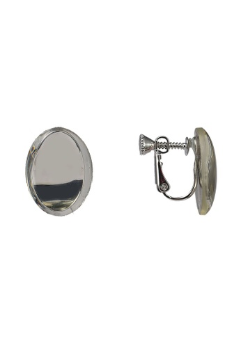 niko and ... grey Circle Earrings D42B5ACD95DF52GS_1