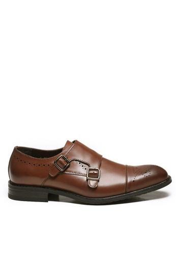 Twenty Eight Shoes 褐色 真皮英式孟克鞋M2017 721E2SH38D0562GS_1