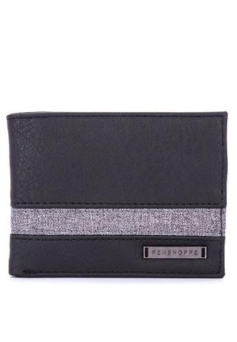 Penshoppe black Synthetic Leather Bi-Fold Wallet 14855AC46DE5DBGS_1