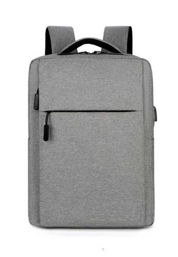 Lara grey Men's Wear-resistant Water-repellent Nylon Light-weight Zipper Backpack - Grey BDEEDAC312C495GS_1