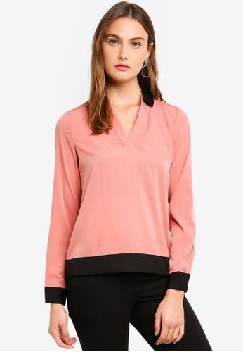 Vero Moda pink Free Long Sleeve Shirt 37147AA9374E3EGS_1