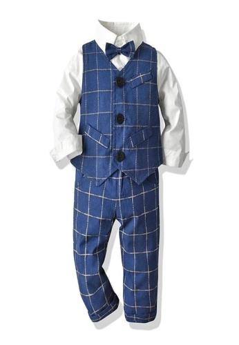 RAISING LITTLE white and blue Julian Outfit Set 338B8KA5C2D908GS_1