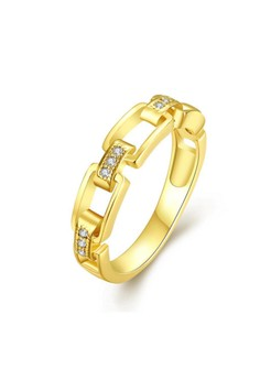 18k Gold Plated Megan Chained Ring
