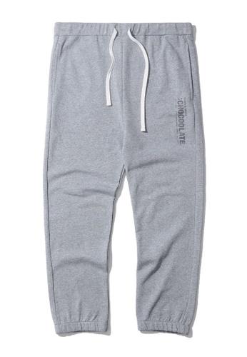 :CHOCOOLATE grey Vertical logo sweatpants 3F9BFAA2FC7B8BGS_1