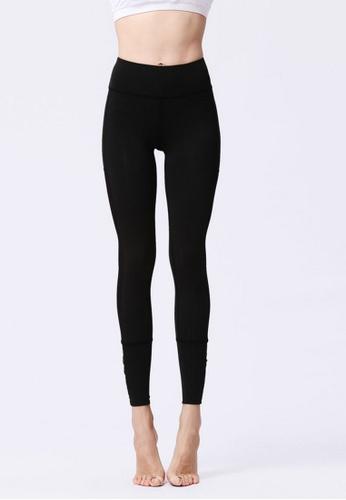 B-Code black ZYG3058-Lady Quick Drying Running Fitness Yoga Sports Leggings -Black 5EEC7AADA96E98GS_1
