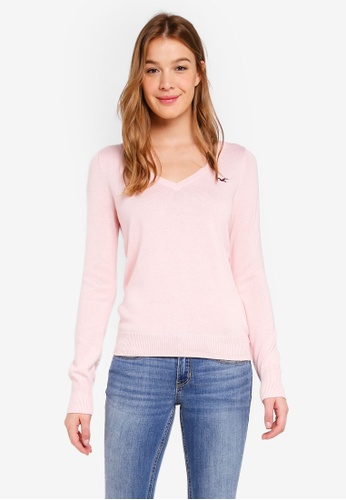 Hollister pink Icon Crew Sweater FF6EDAA84D145EGS_1
