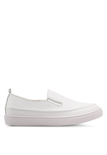 Something Borrowed white Slip-Ons With Back Tab 91043SH4D8A12DGS_1