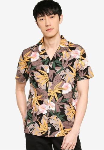 ZALORA BASICS multi Printed Camp Collar Shirt EFB54AA0265F77GS_1