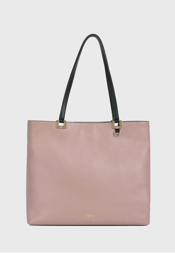 Tocco Toscano red and pink and multi Rosé Square Tote (Pink/Burgundy) C68CAACC99FEE6GS_1