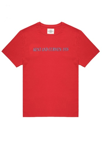 Kent and Curwen red Red Short Sleeve T-Shirt 1F68CAAF443992GS_1