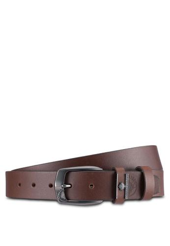 Lumberjacks brown Lumberjacks 35mm Faux Leather Belt LU545AC0SMCUMY_1