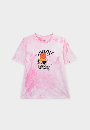 Pomelo pink The Powerpuff Girls Blossom Graphic T-Shirt - Pink F1C7CAA6E09F72GS_1