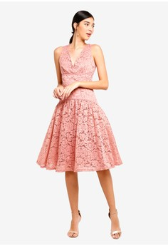 ee3be1d85be 53% OFF Little Mistress Apricot Lace Panel Dress Rp 1.449.000 SEKARANG Rp  677.900 Ukuran 8