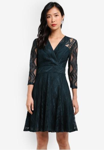 ZALORA green Wrap Front Lace Dress CD8C4ZZ6373173GS_1