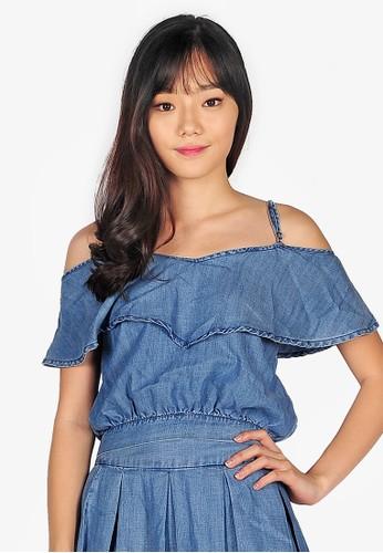 SJO & SIMPAPLY blue SJO's Melona Denim Women's Blouse AA96EAABCBD8AEGS_1