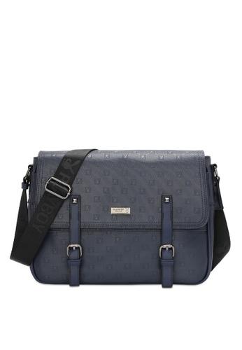 Playboy blue Men's Sling Bag / Chest Bag / Crossbody Bag DE124ACE6B9497GS_1