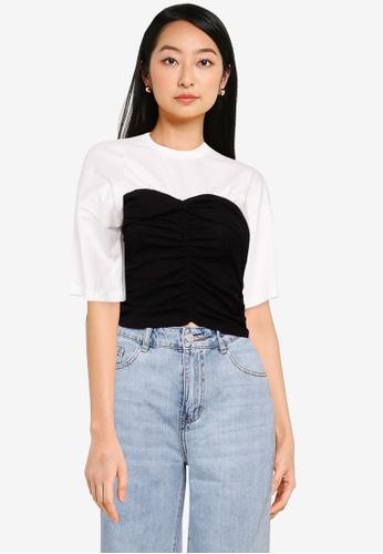 Urban Revivo white 2-In-1 T-Shirt 709A3AADD553B5GS_1