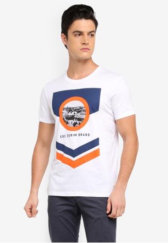 ESPRIT white Short Sleeve T-Shirt 4C3FEAA8691705GS_1