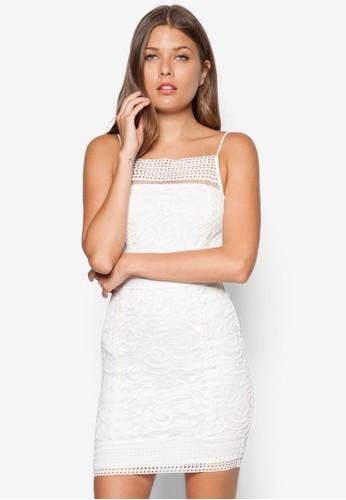 蕾絲鉤topshop代購花修身洋裝, 服飾, 洋裝