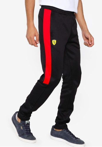 PUMA black Scuderia Ferrari Race T7 Men's Track Pants 64A94AA784D289GS_1