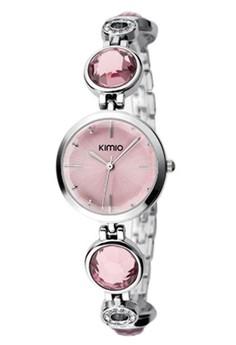Kimio Fashion Women Steel Diamond Bracelet Quartz Wrist Watch